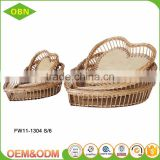 Hot sale graceful Eco-friendly hand weaved strong little poly rattan wicker basket for supermarket