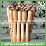 Varnish coated wood rake handle,painting wood stick