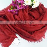Vogue of new fund of 2016 pure color mercerized wool shawls scarf