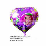 Strawberry girl heilum foil balloon