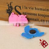 Factory price cartoon hippo soft pvc refrigerator sticker magnet for message leaving