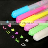 TK-01 Japan and Korean Stationery , creative six color milky pen