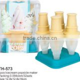 Set of 4pcs ice cream popsicle maker and lolly pop molds
