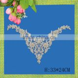 lace flower applique for neck designs for <b>ladies</b> suit or <b>wedding</b> dress