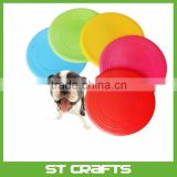 High quality promotional silicone rubber frisbee for dog games