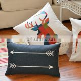 Nature Linen Fabric Digital Printing Design Custom Cushion Cover
