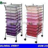 plastic drawer trolley with wheels