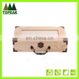 Hot sale custom logo printing wooden gift packaging box wood box