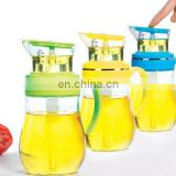 Plastic lid glass oil pot