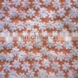 100% cotton mesh fabric lace