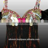 Kuchi Tribal Silvex Coin Bra With Fringe