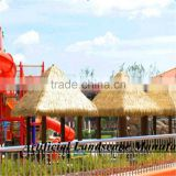beach decoration Eco-friendly Extrusion plastic synthetic thatch roof for decoration