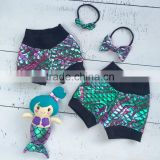 Yiwu Wholesale Sparkle Mermaid Short Pants for Kids