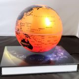 360 rotating magnetic floating bottom globe with book base