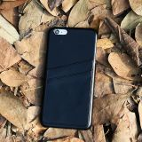 Premium black full grain leather case for phone