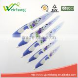 WCE567 5 pcs set Kitchen Knives artwork painting blade PP with TPR handle , hot sale, Wholesale