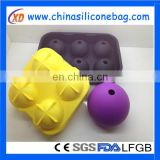 Round Ice Cube Mold Silicone Tray And Sphere For Ice Ball