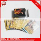 Guangzhou factory high quality custom flash trade card game printing