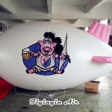 White Advertising Blimp Inflatable Airship for Outdoor Business Show
