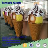 Tornado high quality giant large fake ice cream cone sculpture model, fiberglass big scale decoration display