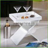 Wooden white side table tea table wine table Homex_BSCI Factory