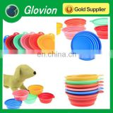 Dog folding bowl glovion pet silicone bowl silicone collapsible bowl for camping