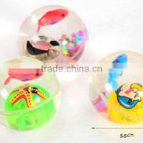 12 pcs per box Magic Flashing bouncing ball, 7.5 cm colorful Flashing bouncing ball, Flashing bouncing ball for kids