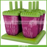 Popsicle Maker BPA-Free Ice Pop Molds Set of 6 Popsicle Molds from Kitchen