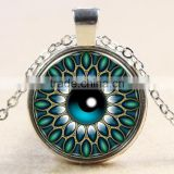 XP-TGN-HE-132 New Fashion Cabochon Glass Gemstone Time Gem Necklace For Ladies