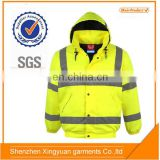 Hi Vis Yellow Constructive Reflective Waterproof Safety Jacket