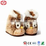 Baby plush slipper soft bird cute warm shoe