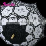 Embroiderly Black lace parasols