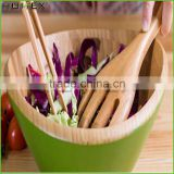 Color Reusable Bamboo Salad Bowl With Hands/Homex_Factory