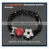 XP-MB-10565 FACTORY PRICE Wholesale Sport Jewelry Metal Zinc Alloy Soccer Ball Bracelet Jewelry