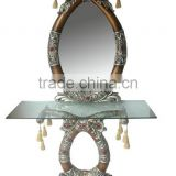 Hot sale console table with glass mirror