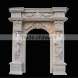 White Marble Door Surround Carving