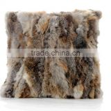 2017 New Collection Grass Rabbit Fur Cushion/OEM