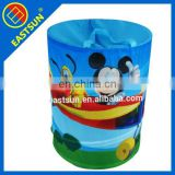 Customized design Cylinder Nylon Polyester Foldable Laundry Basket/ Laundry Bag