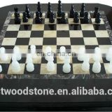 black and white agate stone International chess
