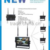 100% Manufacturer CE-Certified 4 Channel 2.4GHz Digital Wireless 800*480 LCD TFT Car Monitor with Multi-screen