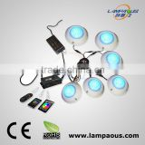 2014 new design ip68 surface mounted high power 2~5 pack light kit new system multicolor led underwater light