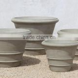 Antique Cement Planter, Set of 4.