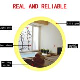 Round LED illuminated bathroom mirror , mirror LED lamp with mirror defogger