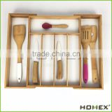 Bamboo Kitchen Drawer Organizer/Flatware Tray/Homex_BSCI