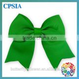 cute kids hair accessories green cheer bow/hair clips for girls