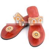 RH20 WOMEN LEATHER MOROCCAN STYLE HANDMADE SANDAL SLIPPER INDIAN TOE STRAP