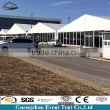 Aluminum structures semi permanent tent outdoor, big glass tents canopy for conference and storage