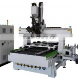Heavy duty 3d 4 axis automatic tool change cnc router engraver machine/wood design machine router