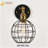Black metal cage led industrial hotel wall light wall lamp