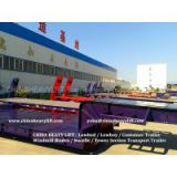 CHINA HEAVY LIFT - Three Line Six Axle Lowbed Trailer CHINA HEAVY LIFT - Flatbed Container Trailer